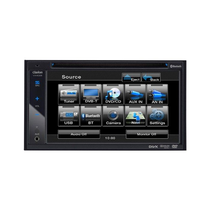 Clarion VX402E Double Din AV system with USB/AUX input and Bluetooth - Car Audio Centre