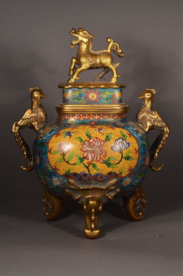 15th Century Ming Imperial Cloisonne Censer