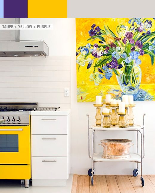 I may need to paint giant van Gogh-esque flowers onto my yellow wall.