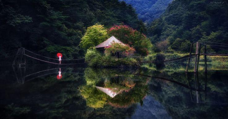 Идеальные пейзажные фотографии с отражением от Джаевун У (Jaewoon U)