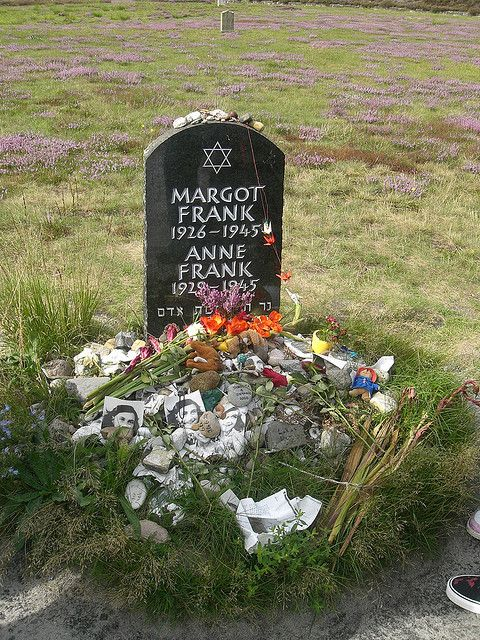 Margot and Anne Frank's tombstone. I have been to Bergen Belsen and seen it.