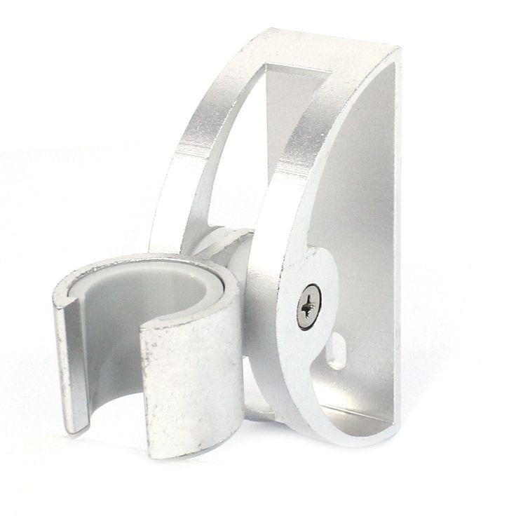 Bathroom Adjustable Wall Mount Alloy Aluminum Shower Head Holder Silver Tone