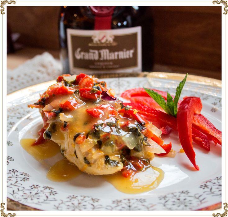 Poitrines de poulet aromatisées au Grand Marnier sans gluten