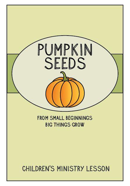 Pumpkin Seeds Children 39 s Ministry