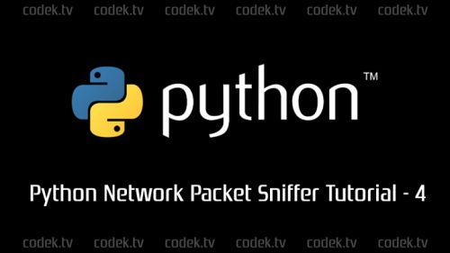 Python Network Packet Sniffer Tutorial  4  Unpacking IP Packet...  Python Network Packet Sniffer Tutorial  4  Unpacking IP Packet Headershttps://codek.tv/6729  #learnpython via http://ift.tt/1W3X2X6