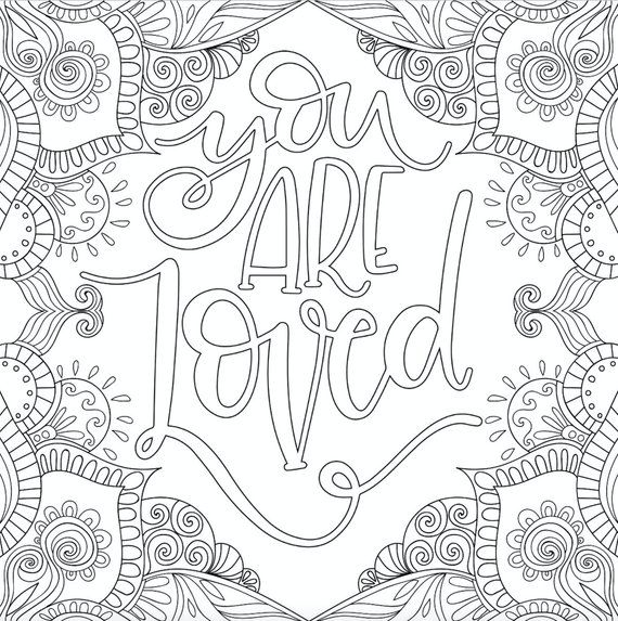 3 Motivational Printable Coloring Pages Zentangle Coloring Etsy In 2020 Love Coloring Pages Quote Coloring Pages Coloring Pages