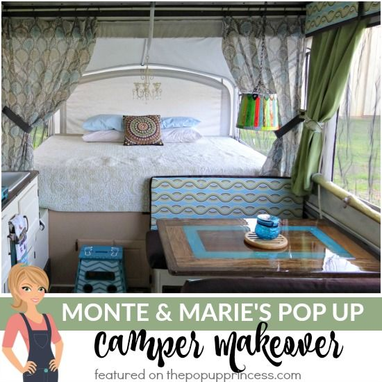 Monte & Marie are a couple of empty nesters who fixed up their pop up camper to use at festivals.  Check out that table!  Gorgeous!