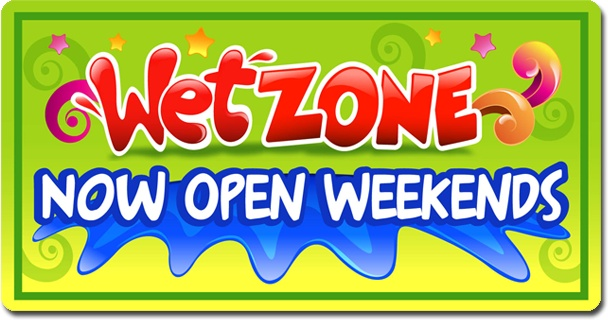Wetzone Open Weekends!  Beginning May 7, 2016 see details here http://piratescovefunzone.com/calendar/