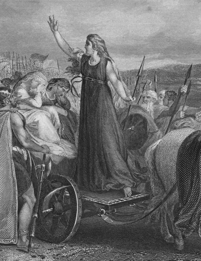 "Boudicca - British Celtic warrior queen who led a revolt against Roman occupation {? - 61 CE} We know the history of Boudicca through two writers: Tacitus, in ""Agricola"" (98 CE) and ""The Annals"" (109 CE), and Dio, in ""The Rebellion of Boudicca"" (about 163 CE). Boudicca was the wife of Prasutagus, who was head of the Iceni tribe in East England, in what is now Norfolk and Suffolk. [How Boudicca Led a Celtic Revolt Against Roman Occupation...]"