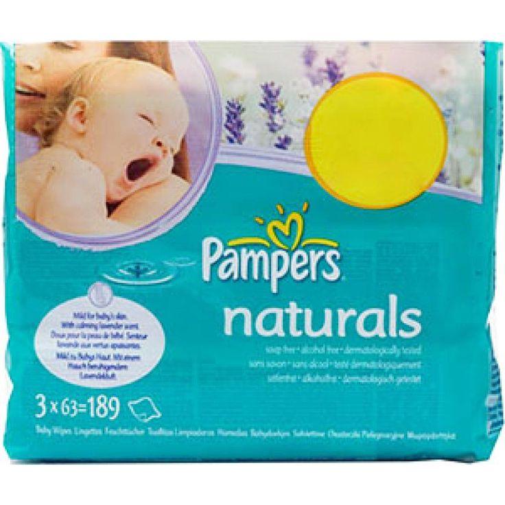 Pampers Baby doekjes Natural - 63 stuks  Description: Pampers Baby Wipes Naturals - 63 stuks Nog voor het moment dat baby's kunnen praten communiceren ze door middel van aanraking. Daarom is het zo belangrijk om hun gevoelige huid zo goed mogelijk te beschermen. Elke keer dat je baby's huid in aanraking komt met ontlasting en urine kan dit de huid irriteren en de natuurlijk pH-balans verstoren. Met Pampers Sensitive Babydoekjes kun je de pH-waarde van je baby's huidje in balans houden…