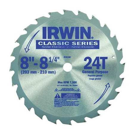 "Irwin Industrial Tools 15070 10/"" 24 TPI Carbide Saw Blade"