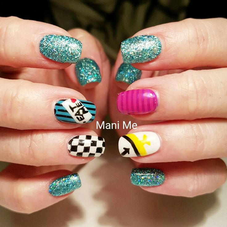 25 best ideas about alice in wonderland nails on