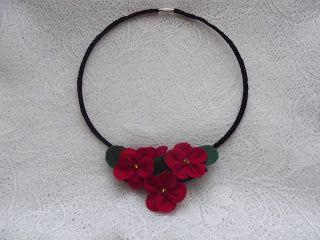 Bijuterii lucrate manual: Coier floral