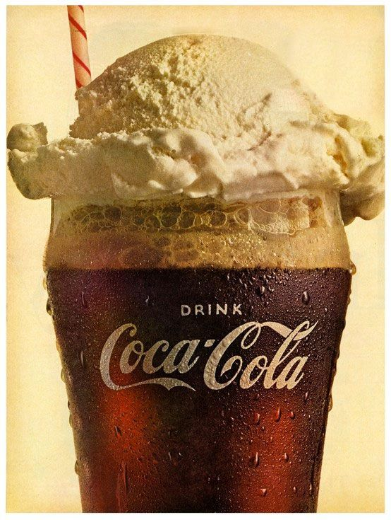 Nothing better than a coke float! and nothing more american. Fill a cup with vanilla ice cream and then pour some coke over it