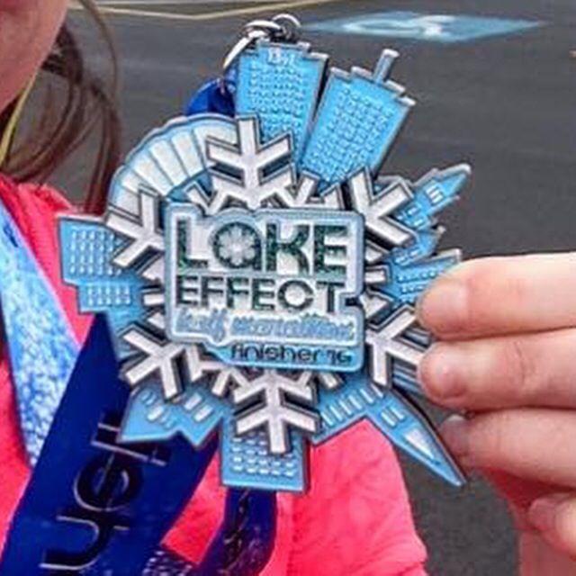 Lake Effect Half Marathon in Syracuse New York - www.halfmarathonsearch.com Half Marathon Calendar USA photos from runners, swag, bling, fun running photos and more.  #halfmarathon #running #bling