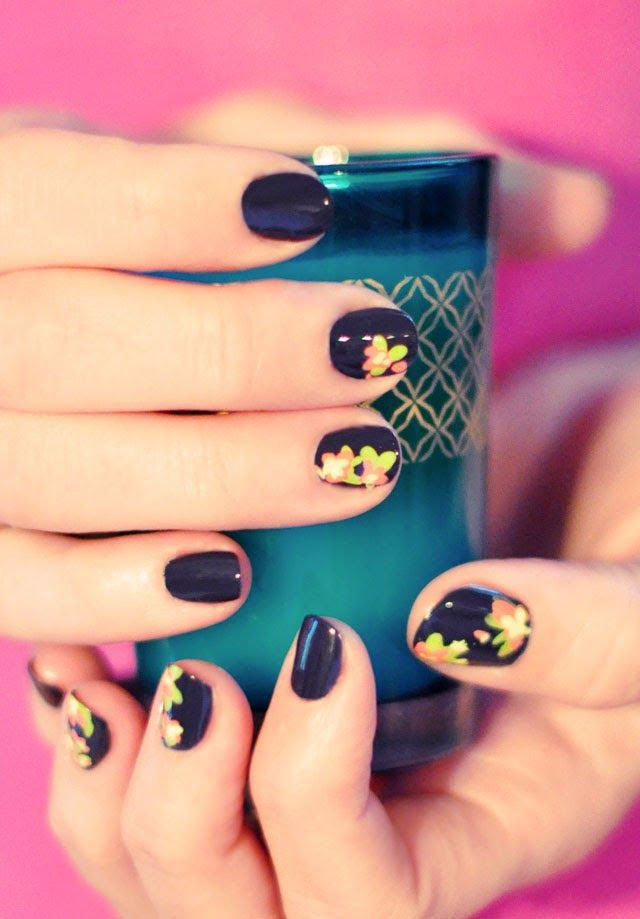 ...love Maegan: DIY Floral Nail Art | Hand Painted Flower Accent Nails | A Lifestyle Blog + Fashion + Beauty + DIY
