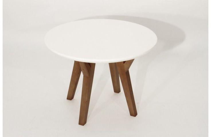 Table Basse Design Ronde Blanche Loa Ø 60 cm - Mobilier Contemporain Sodezign - Dessus