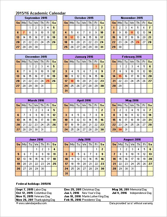 Office Calendar Template 10+ Free Printable PDF, Excel and Word