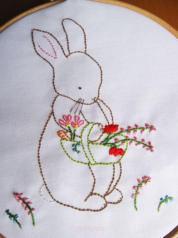 Hand Embroidery PDF Pattern Over the Garden Gate door bumpkinhill