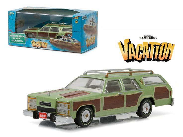 "1979 Family Truckster Wagon Queen ""National Lampoon's Vacation"" (1983 ) Movie 1/43 Diecast Model Car by Greenlight - Brand new 1:43 scale diecast car model of1979 Family Truckster Wagon Queen ""National Lampoon's Vacation"" (1983) Movie die cast car model by Greenlight. Rubber tires. Brand new box. Limited Edition. Detailed interior, exterior. Comes in plastic display showcase. Dimensions approximately L-5 inches long.-Weight: 1. Height: 5. Width: 9. Box Weight: 1. Box Width: 9. Box Height: 5…"