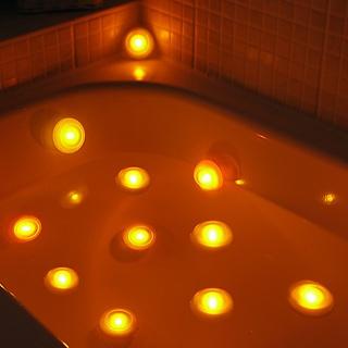 Spa Lights.  Find at Firebox: http://goo.gl/O2XBj: Bath Tubs, Trav'Lin Lights, Spa Lights, Bathtubs, Dreams Bathroom, Candles, Spas, Bubbles Bath, Products