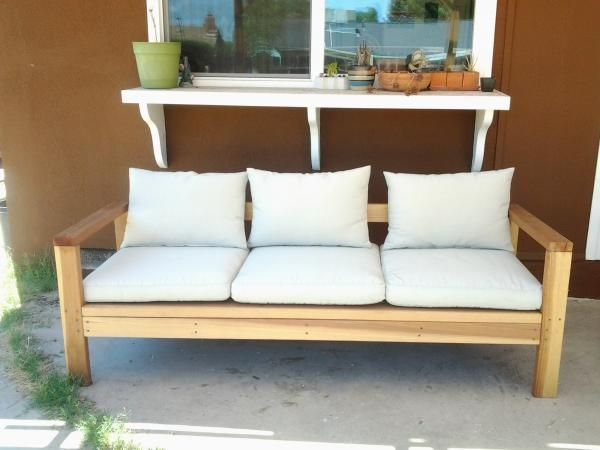 Wood 2x4 outdoor sofa couch free plans diy simple easy for Sofa exterior diy