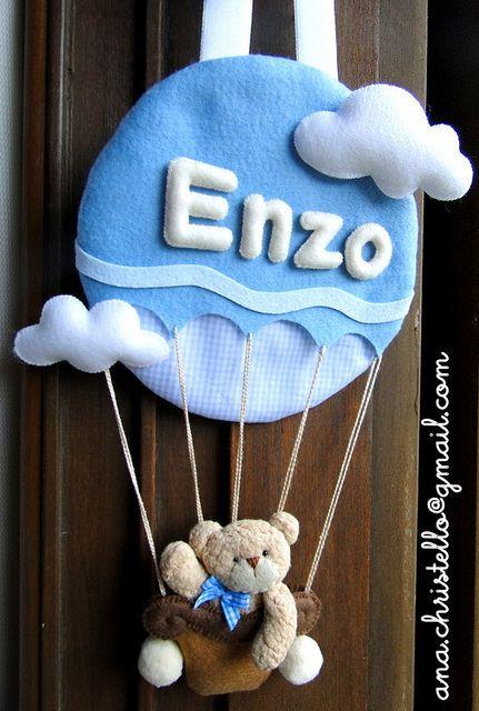 Porta de maternidade do Enzo