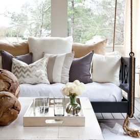 Transitional Porch by Lindsey Hene Interiors