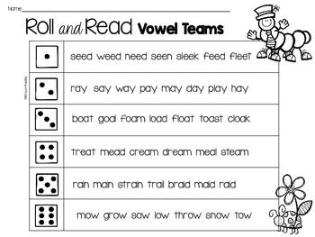 {FREE!} This is a freebie of roll and read fluency games. There are three games included. The skills covered are Vowel Teams, CVC, and Letter Naming. Enjoy!You might also like:Easter and Spring All Access Pass{Get all my spring products with the all access pass}Spring SpellingVowel Team Games for FluencyNinja Rabbit Letter-Naming or Sound FluencySpring CVC Read and Write the RoomSpring Digraph Games Spring First Sound StampingSpring Long Vowel Silent eSpring Beginning Blends GameEaster Spin…