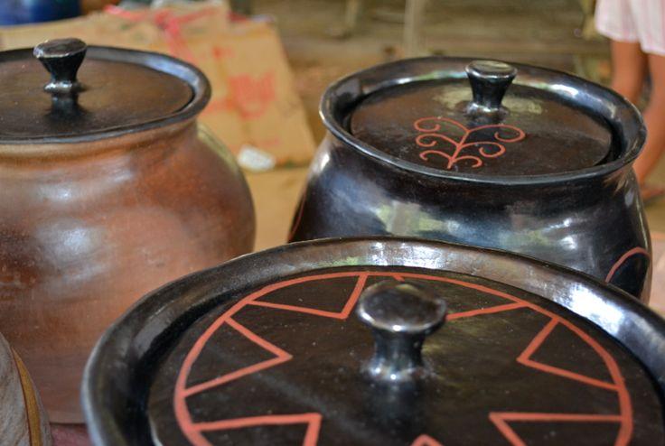 Tinajas con tapa de la comunidad de Cubay (Vaupés- Colombia) #Artesanias Cómpralas en Mambe.org!