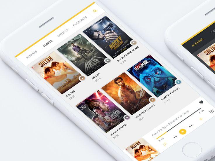Music App UI KIT by WSDesign