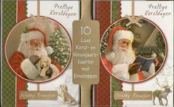 Kerstkaarten met de kerstman