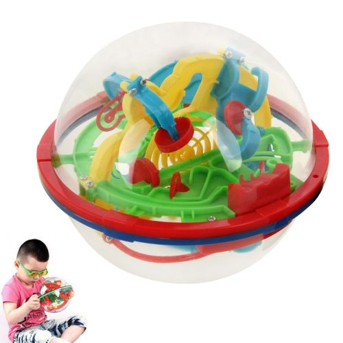 [USD2.14] [EUR1.91] [GBP1.53] 3D Magical Intellect Ball Maze Ball Balance Puzzle Toy IQ Trainer Game