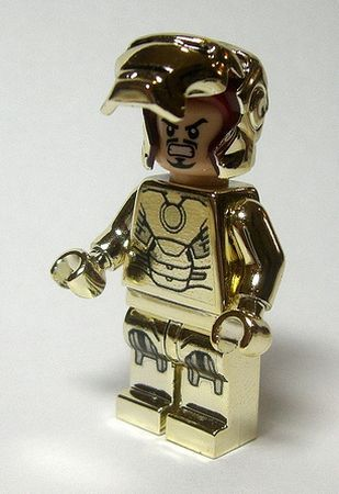 How did they make a gold Lego Iron Man? Did they paint it?