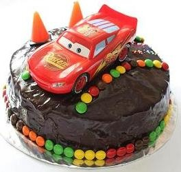 Cars birthday cake but with Finn on top of course