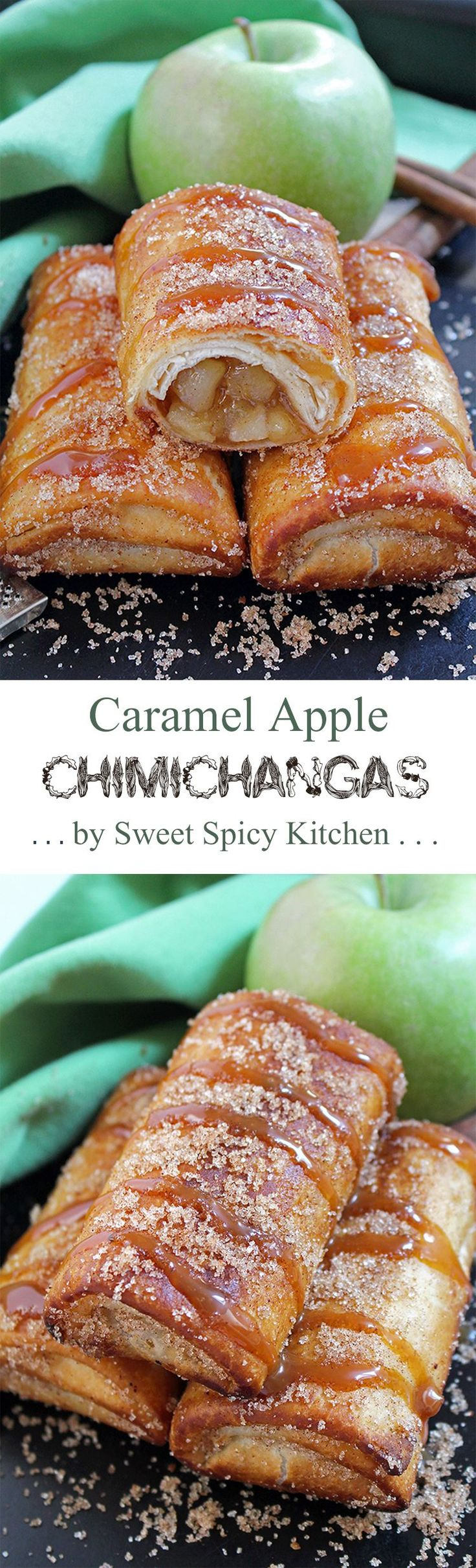 Every season has its charms. Fall is a time of the year when we enjoy beautiful dishes. Delicious Caramel Apple Chimichangas dessert is one of them..