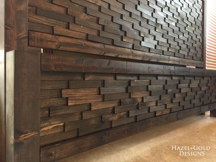 This textured headboard and footboard are incredibly easy to build, and look fantastic! Can you believe they are made using boards & inexpensive wood shims?
