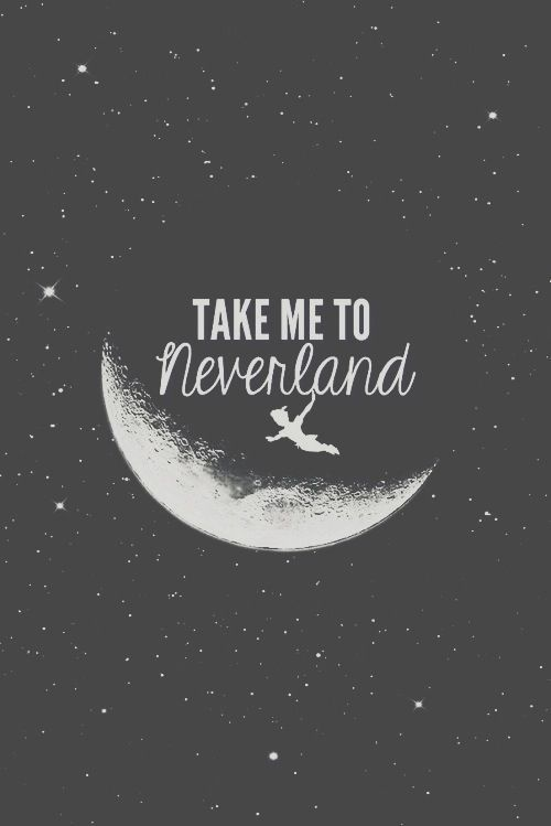 Neverland quote iphone wallpaper