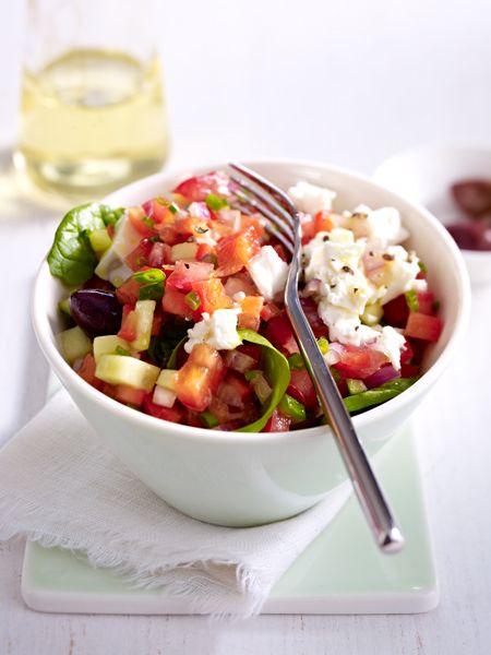 Griechischer Salat mit Feta - kalí órexi!