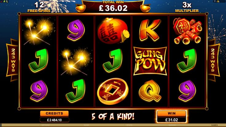 Log in and reel to riches at http://www.royalvegascasino.com/ Play Gung Pow online slot