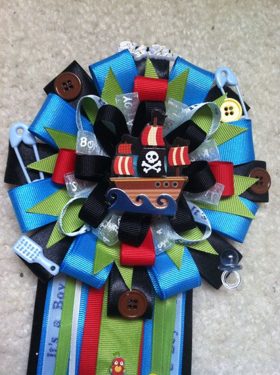 pirate theme baby shower corsage on etsy