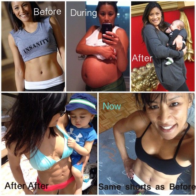 """Love me some Tania from my Insanity workouts!  Repost - Here's my real life transformation from """"The Machine"""" to the """"Ma(ma)chine""""...from Insanity to T25! First photo is from Insanity Fit Test shoot and last photo is this week wearing those same shorts. It is possible to get your body back. Honest truth: I did it with T25, clean diet and Shakelogy. I'm proud of my stretch marks and C-section scar because look who I got out of…"""