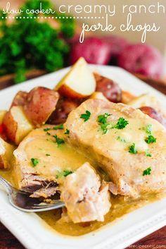 Slow Cooker Creamy Ranch Pork Chops   The Recipe Critic
