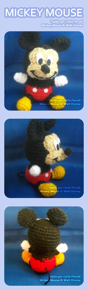 Mickey Mouse Amigurumi by kaniachocolate.deviantart.com on @deviantART