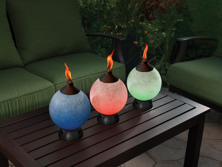... World Better Than Relaxing Outside, Illuminated Only By The Light Of  The Moon And The Warm Glow Of The Flame? Find TIKI® Brand Glowing Table  Torches At ...