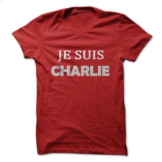 """Je Suis Charlie"" T-shirts red - #hoodie novios #floral sweatshirt. GET YOURS => https://www.sunfrog.com/Faith/Je-Suis-Charlie-T-shirts-red.html?68278"
