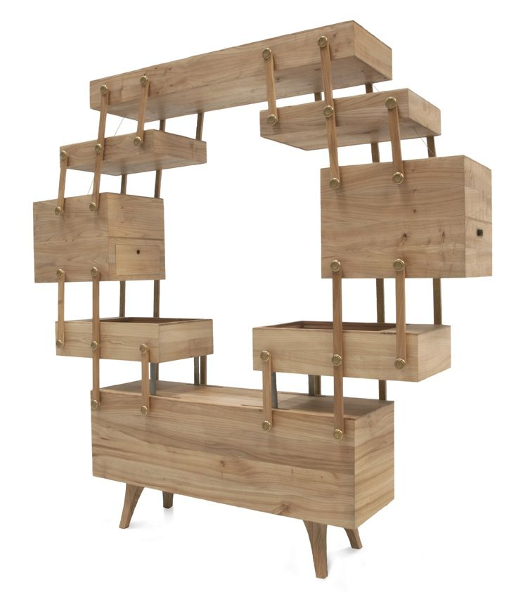 Sewing Box Cabinet By Kiki Van Eijk. Elms Wood, Brass   246 X 50