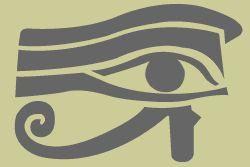 Egyptian eye stencil in a unique and original design.