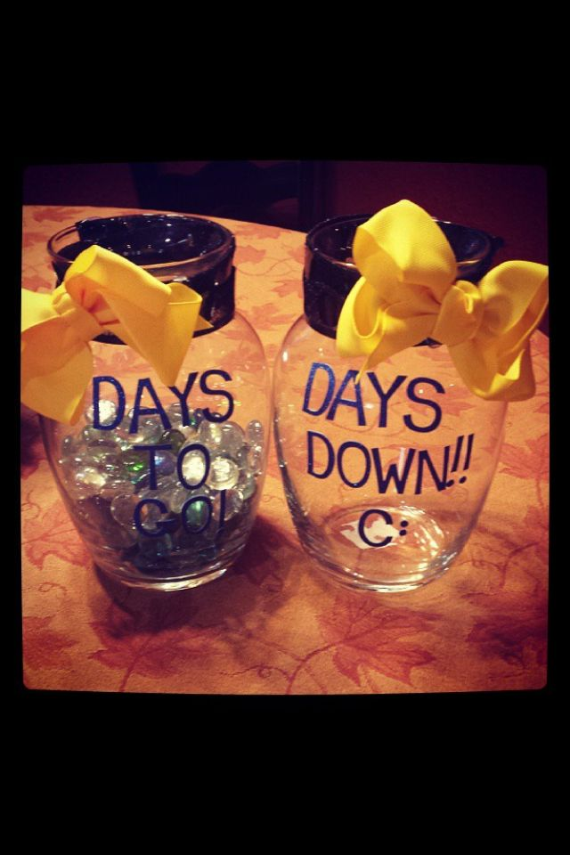 Deployment countdown jars! Full credit goes to one of my fellow army girlfriends.
