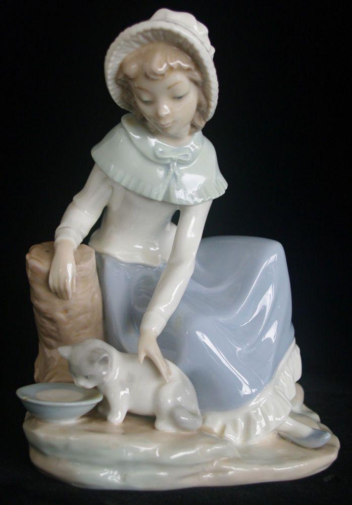 0284 porcelain lladro nao figurine milk for the cat girl retired 1992 martinez lladro - Consider including lladro porcelain figurines home decoration ...